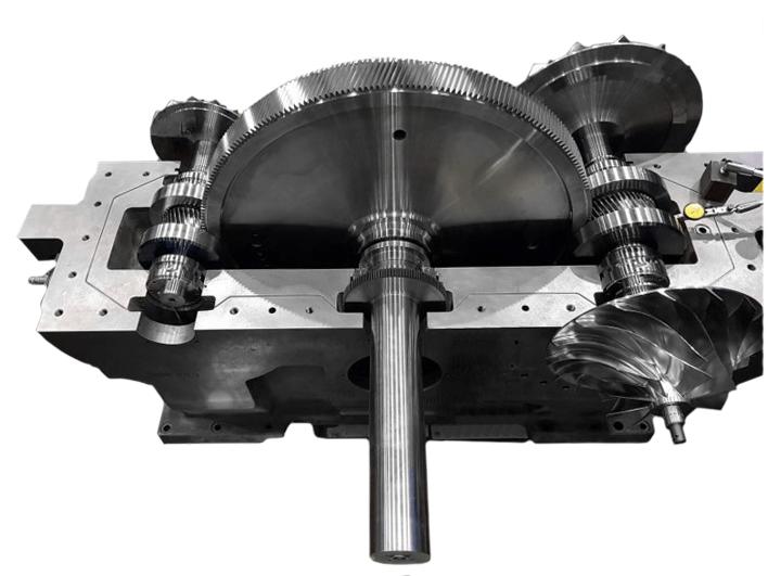 Lone Star Centrifugal Compressor cut-away gears
