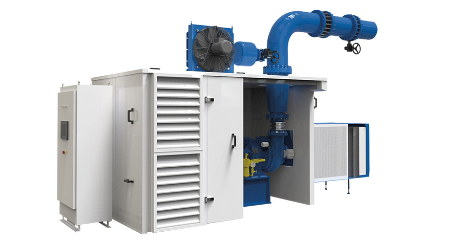 GB Single Stage Geared Turbo Blower packaged systems optional enclosures