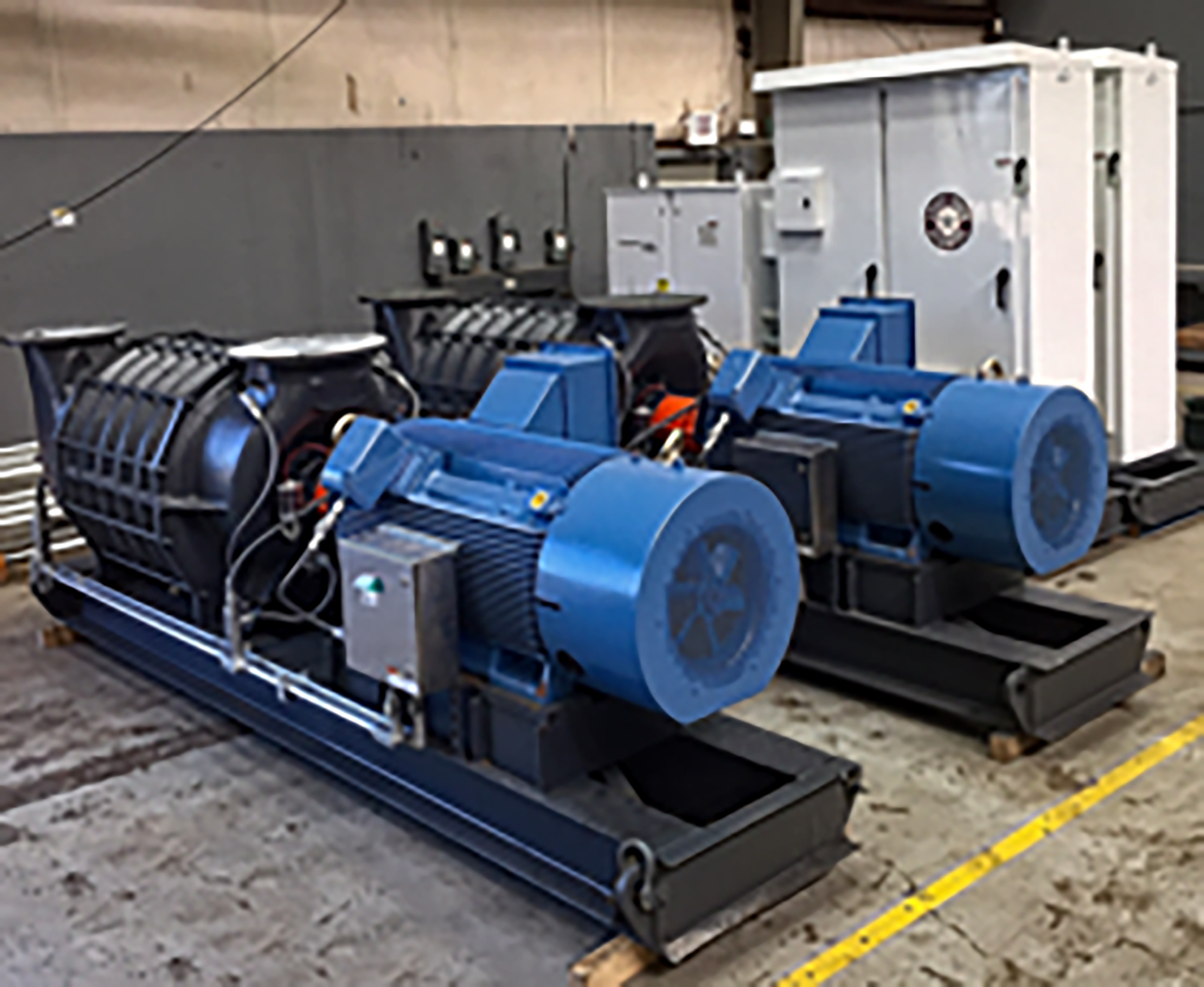 Lone Star can build-to-suit to your specific process performance for a rental blower in a matter of days or ship immediately from our extensive inventory. Process air or gas systems have specific flow and pressure requirements. Our applications engineers will make sure your process performance is met. From 1 to 30 PSI (15inHG Vacuum) delta pressure and 500 to 200,000 cfm air or gas, pressure or vacuum; we have a solution either emergency response or long term temporary applications. Rent-to-Own Options as well as Brand New Replacement Blowers are available. Blower Packages can include a simple bare blower or complete integrated system to include electric motor, motor starter, PLC control with monitoring and network connections, and other accessory items all packaged to simply connect power and connect piping and its fully automated. We can also build a rental to a specific process gas with the correct materials and protection. Area classifications to Class 1, Div 1 or Zone 0 or ATEX are available.