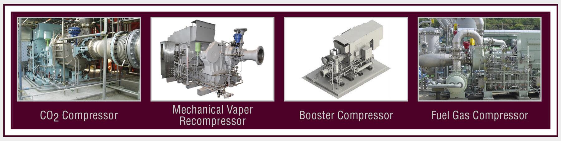 Compressors - CO2 Compressor, Mechanical Vaper Compressor, Booster Compressor, Fuel Gas Compressor