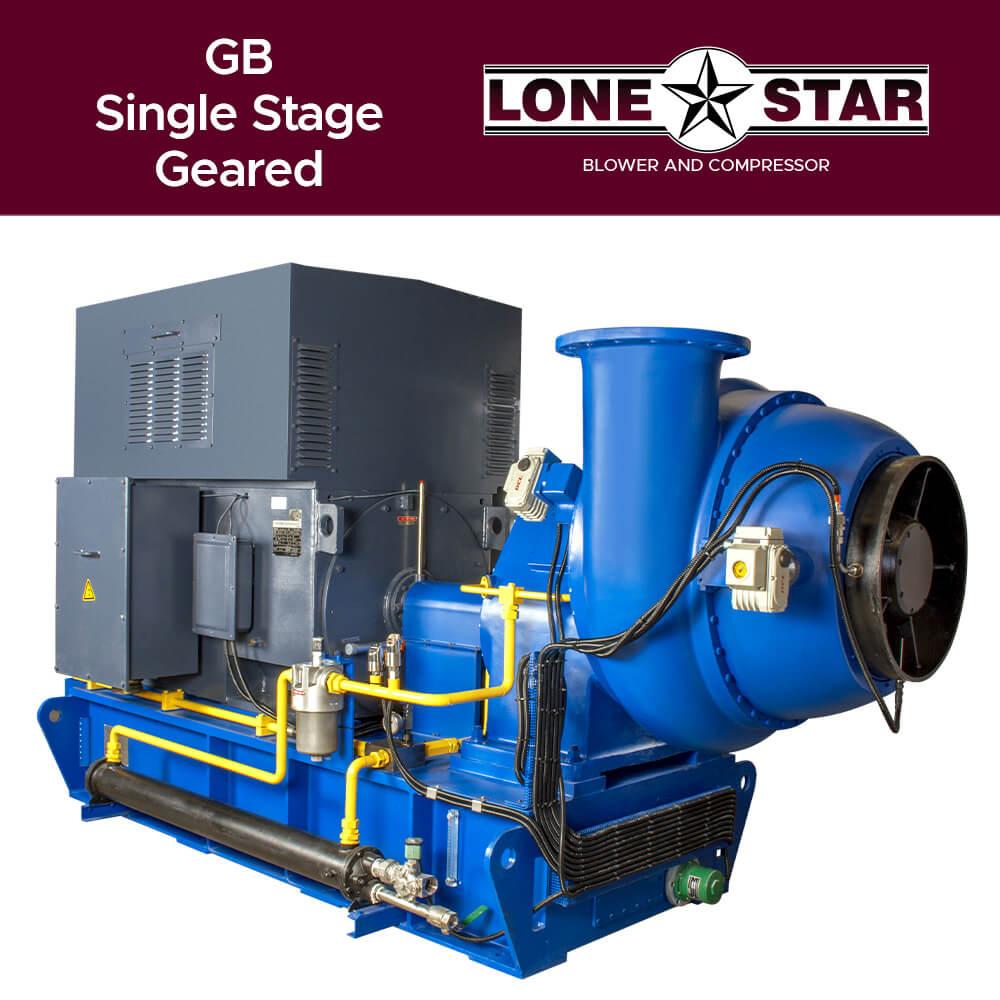GB Single stage Geared Turbo Blower Lone Star Blower