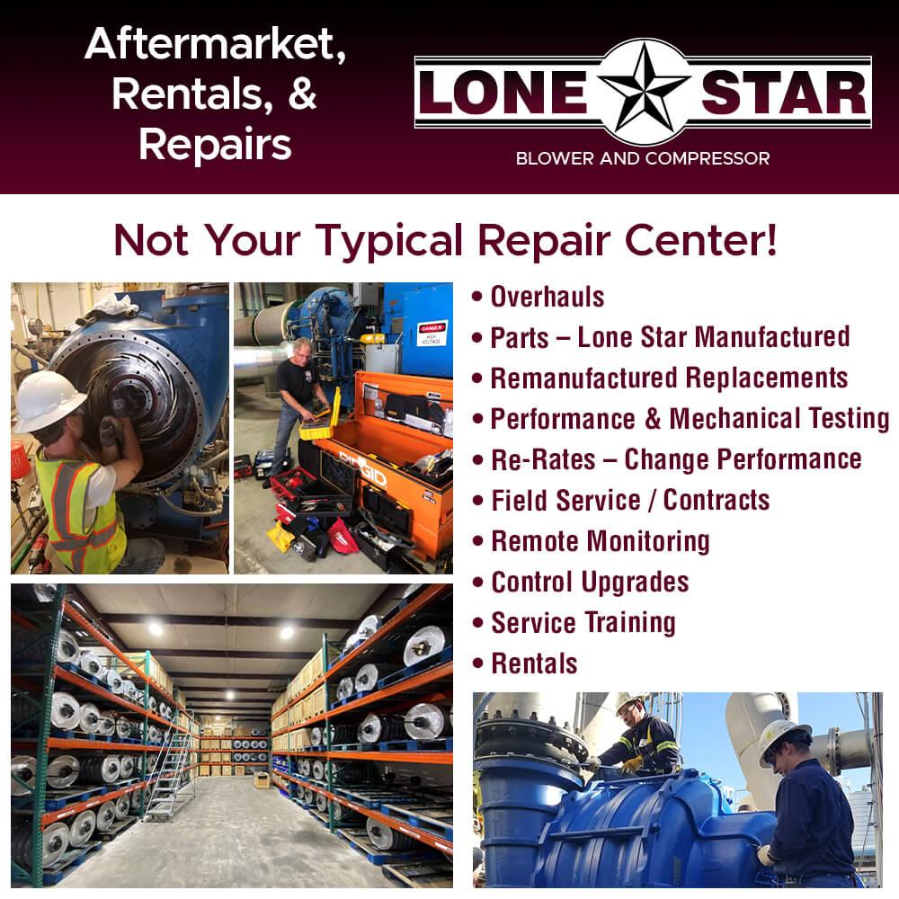 Rental Aftermarket Repairs Lamson Hoffman Blower Lone Star Blower
