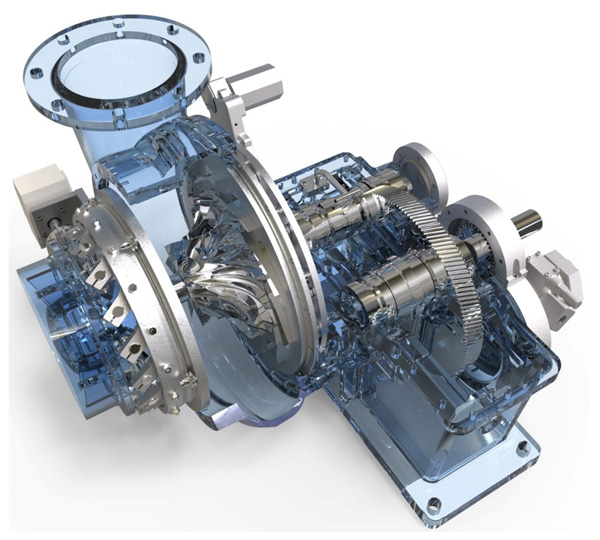 GB Single Stage Geared Turbo Blower Core Components
