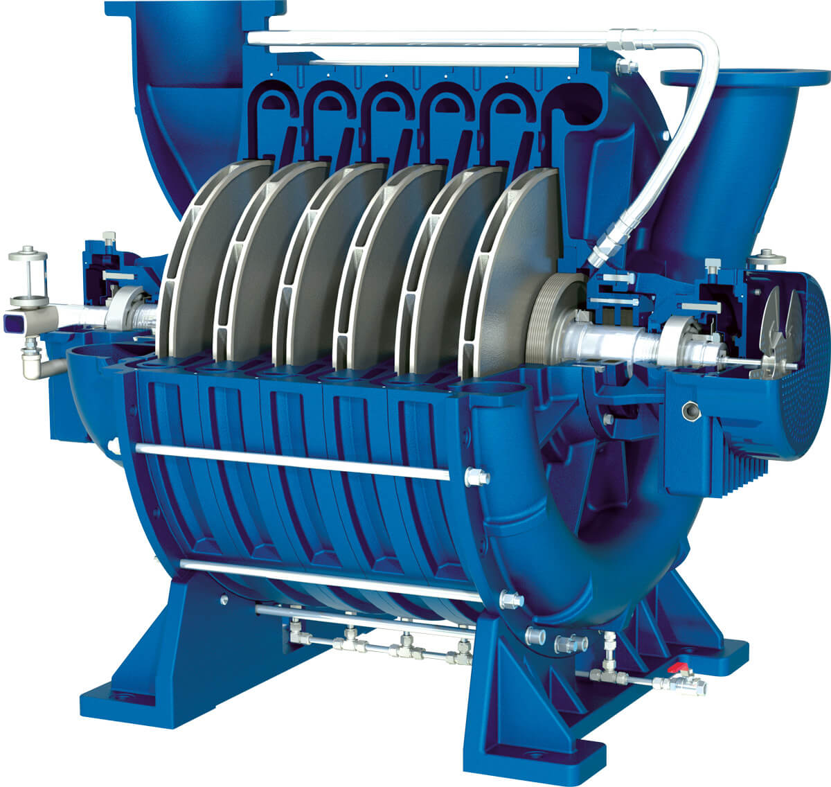 Lone-Star-Multistage-Centrifugal-Turbo-Blower-Cut-Away